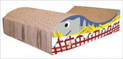 Imperial Cat Animal Scratch 'n Shapes Food Scratcher Fish N' Chips - Peazz Pet