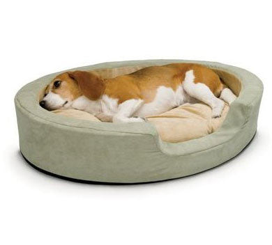 "K&H Manufacturing Thermo Snuggly Sleeper Large - Sage - 31""x 24"" Oval (KH1923) - Peazz Pet"