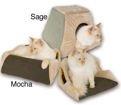 K&H Manufacturing Mocha Thermo Kitty Cabin (KH3071) - Peazz Pet