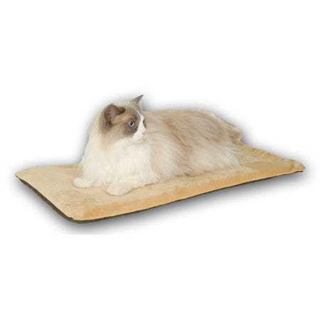 K&H Manufacturing Mocha Thermo Kitty Mat 12.5 x 25 (KH3291) - Peazz Pet