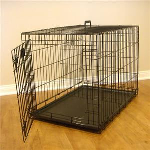 "42"" Majestic Pet Single Door Folding Dog Crate Cage - Large - Peazz Pet"