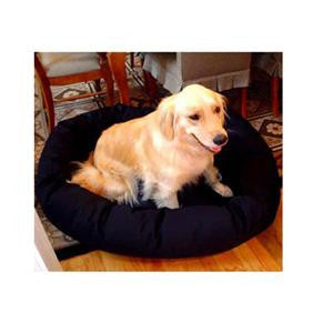 "Majestic Pet Small 24"" Bagel Bed - Black - Peazz Pet"
