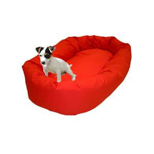 "Majestic Pet Small 24"" Bagel Bed - Red - Peazz Pet"