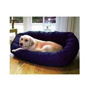 "Majestic Pet Small 24"" Bagel Bed - Blue - Peazz Pet"