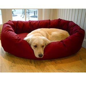 "Majestic Pet Small 24"" Bagel Bed - Burgundy - Peazz Pet"