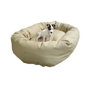 "Majestic Pet Large 40"" Bagel Bed - Khaki - Peazz Pet"