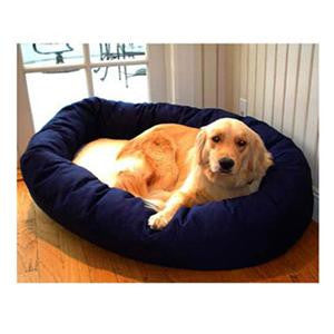 "Majestic Pet Extra Large 52"" Bagel Bed - Blue & Sherpa - Peazz Pet"