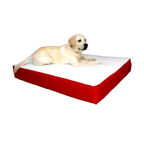 Majestic Pet Small/Medium 24x34 Orthopedic Double Pet Bed - Red - Peazz Pet