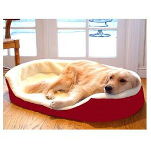 Majestic PetSmall 23x18 Lounger Pet Bed - Red - Peazz Pet