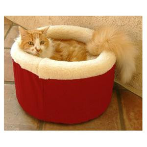 "Majestic Pet Small 16"" Cat Cuddler Pet Bed - Red - Peazz Pet"