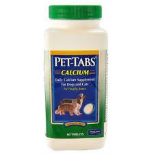 Pet-Tabs CF Calcium For Dogs & Cats, 60 Chewable Tablets - Peazz Pet