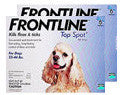 Frontline TopSpot Dog 23-44 lb BLUE 12 pk - Peazz Pet