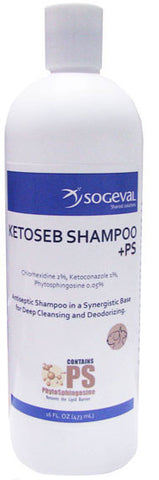 Ketoseb Shampoo +PS, 16 oz. - Peazz Pet