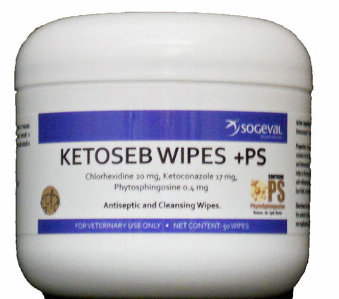 Ketoseb Wipes +PS, 60 Wipes - Peazz Pet