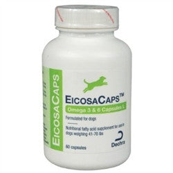 EicosaCaps For Dogs 41-70 lbs, 60 Capsules - Peazz Pet