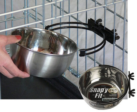 Midwest Snap'y Fit Water and Feed Bowl - 1 Quart (MW41) - Peazz Pet