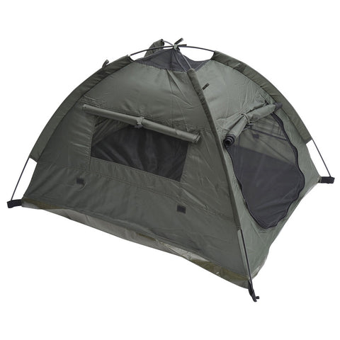 "MDOG2 TT1289A Outdoor Polyester Fabric Pet Camping Tent w/ Fiberglass Rod - 35"" x 28"" - Peazz Pet"