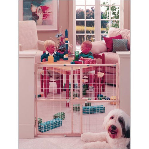 "North States Wide Wire Mesh Gate Fits Openings 29.5"" - 50"" and 32"" Tall NS4615 - Peazz Pet"
