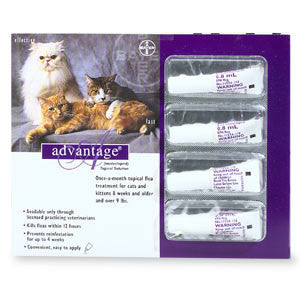 Advantage Flea Treatment for Cats And Kittens Over 9 Lbs (4 Pack) - Peazz Pet