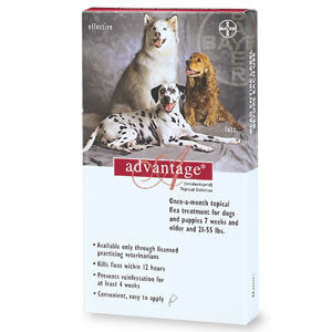Advantage - For Dogs And Puppies 21-55 Lb (4 Pack) (RED-55-4) - Peazz Pet