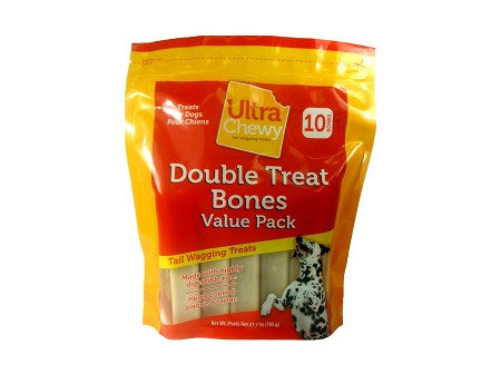 Ultra Chewy Double Treat Value Pack (2 bags = 20 Bones) - Peazz Pet