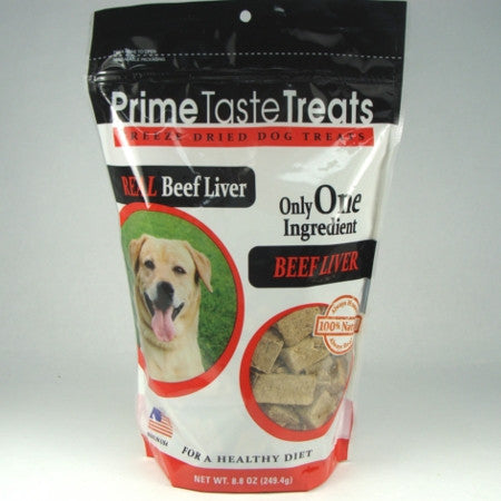Prime Taste Treats Freeze Dried Beef Liver - 8.8oz. 2 Pack - Peazz Pet