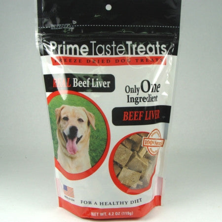Prime Taste Treats Freeze Dried Beef Liver - 4.2oz 2 Pack - Peazz Pet