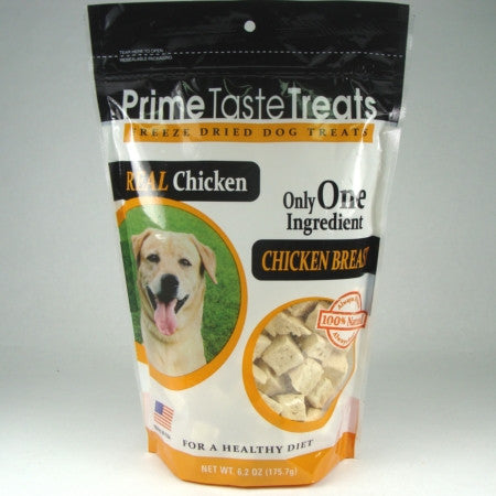 Prime Taste Treats Freeze Dried Chicken Breast - 6.2oz. 4 Pack - Peazz Pet