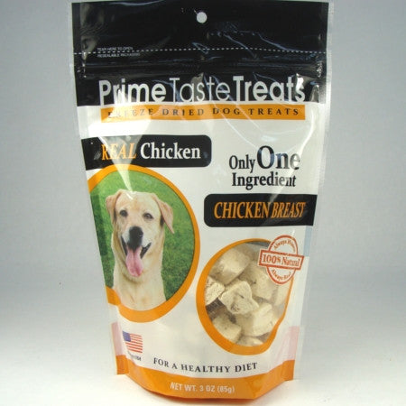 Prime Taste Treats Freeze Dried Chicken Breast - 1.4oz. 4 Pack - Peazz Pet