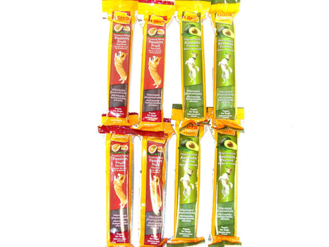 Ultra Chewy Tropical Bone Bundle A (8 bones total) - 4 Avocado Flavored, 4 Passion Fruit Flavored - Peazz Pet