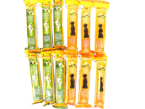 Ultra Chewy Tropical Bone Bundle D (12 bones total) - 6 Avocado Flavored, 6 Papaya Flavored - Peazz Pet