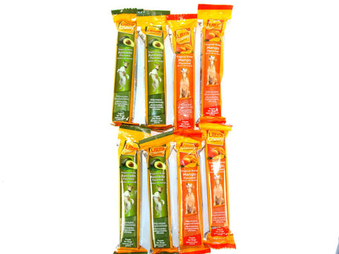 Ultra Chewy Tropical Bone Bundle E (8 bones total) - 4 Avocado Flavored, 4 Mango Flavored - Peazz Pet