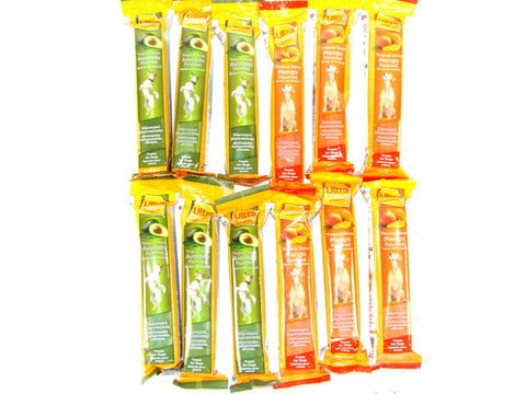 Ultra Chewy Tropical Bone Bundle E (12 bones total) - 6 Avocado Flavored, 6 Mango Flavored - Peazz Pet