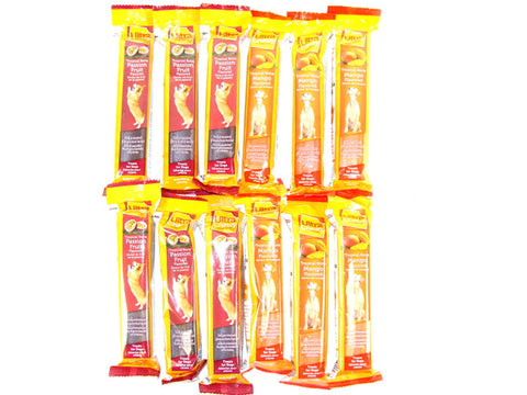 Ultra Chewy Tropical Bone Bundle F (12 bones total) - 6 Passion Flavored, 6 Mango Flavored - Peazz Pet