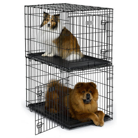 Pet Home w/ Plastic Pan Stacking Crate 36L x 23W x 24H (SL35ST) - Peazz Pet