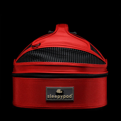 Sleepypod Mini SM-RED Mobile Pet Bed (Strawberry Red) Small - Peazz Pet