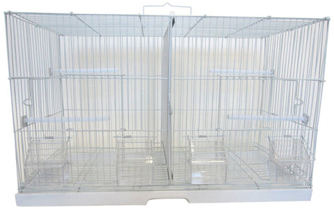 "YML Group 2414 3/8"" Canary Finch Breeding Cage, Large, White - Peazz Pet"