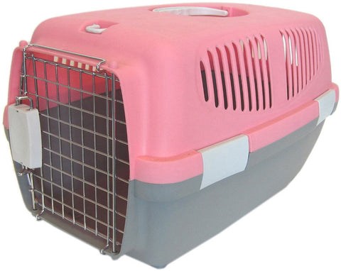 YML Group Z100S-PK Small Plastic Carrier for Small Animal, Pink - Peazz Pet