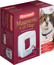 Staywell Mag White Cat Flap 4 Way Lock (400US) - Peazz Pet
