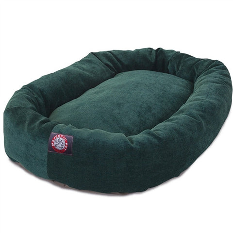 "Majestic Pet Products 40"" Marine Villa Collection Micro-Velvet Bagel Bed By Majestic Pet Products - Peazz Pet"