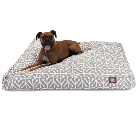 Majestic Pet Products Gray Aruba Extra Large Rectangle Pet Bed - Peazz Pet