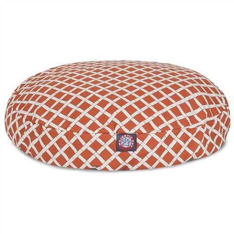 Majestic Pet Products Burnt Orange Bamboo Large Round Pet Bed - Peazz Pet
