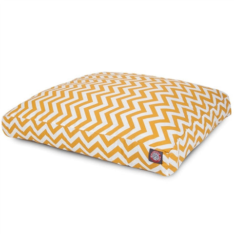 Majestic Pet Products Yellow Chevron Extra Large Rectangle Pet Bed - Peazz Pet