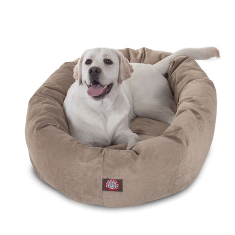 "Majestic Pet Products 40"" Pearl Villa Collection Micro-Velvet Bagel Bed By Majestic Pet Products - Peazz Pet"