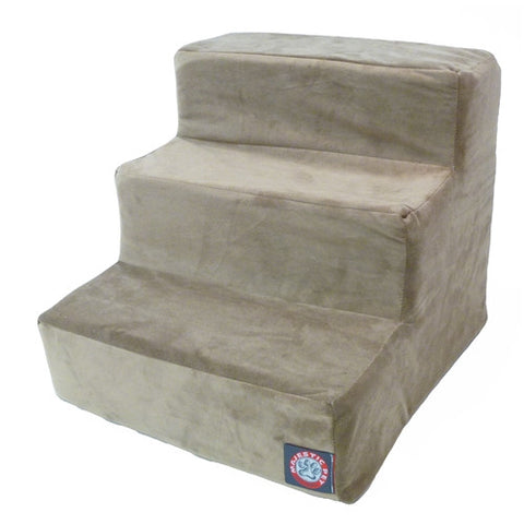 Majestic Pet Products 3 Step Stone Suede Pet Stairs By Majestic Pet Products - Peazz Pet
