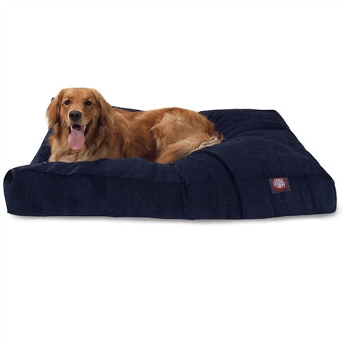 Majestic Pet Products Navy Villa Collection Extra Large Rectangle Pet Bed - Peazz Pet