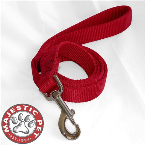 Majestic Pet Products 1in x 4ft Dbl Lead Red By Majestic Pet Products - Peazz Pet