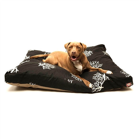 Majestic Pet Products Black Coral Extra Large Rectangle Pet Bed - Peazz Pet