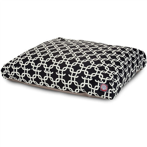 Majestic Pet Products Black Links Extra Large Rectangle Pet Bed - Peazz Pet