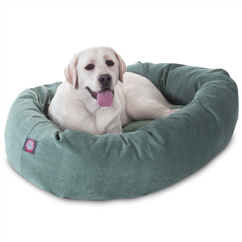 "Majestic Pet Products 40"" Azure Villa Collection Micro-Velvet Bagel Bed By Majestic Pet Products - Peazz Pet"